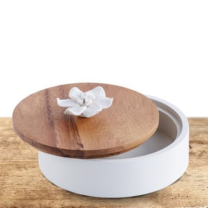 Wooden Jasmine Top/White Bottom Box | Buy Stationary in Dubai UAE | Gifts