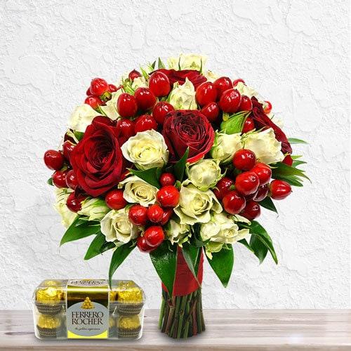Precious Angel (with Free Chocolates)   Buy Flowers in Dubai UAE   Gifts