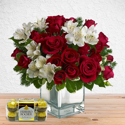 Pure and Crimson (with Chocolates) | Buy Packages / Bundles in Dubai UAE | Gifts