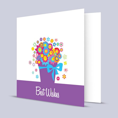 Bouquet of Best Wishes Card | Buy Stationary in Dubai UAE | Gifts