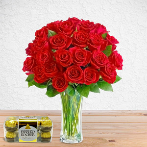 Rosey Red (with Free Chocolates) | Buy Packages / Bundles in Dubai UAE | Gifts
