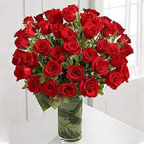 50 Premium Long Stem Roses | Buy Flowers in Dubai UAE | Gifts