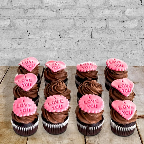12 Personalized Chocolate Fudge Cupcakes   Buy Desserts in Dubai UAE   Gifts