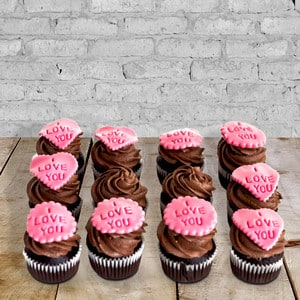 12 Personalized Chocolate Fudge Cupcakes | Buy Desserts in Dubai UAE | Gifts