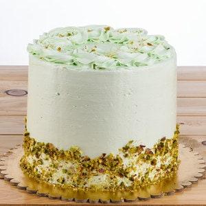 Pistachio layered sponge cake by pastel cakes %28serves 16%29