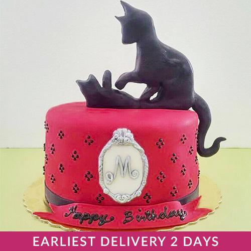 Cat Silhouette Cake