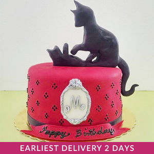 Cat Silhouette Cake | Buy Cakes in Dubai UAE | Gifts
