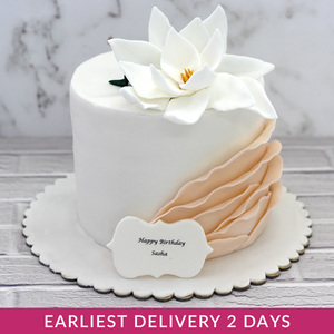 White Flower Cake | Buy Cakes in Dubai UAE | Gifts