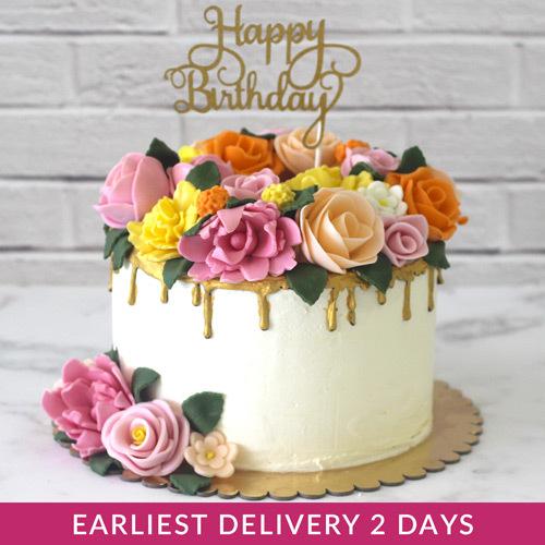 Colour Flower Cake