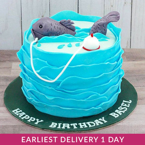 Fishing Themed Cake | Buy Cakes in Dubai UAE | Gifts