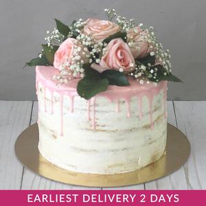 Flower Naked Cake | Buy Cakes in Dubai UAE | Gifts