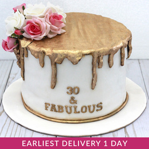 Golden Drizzle Flower Cake | Buy Cakes in Dubai UAE | Gifts