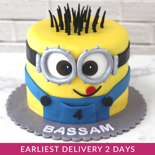Minion Birthday Cake Serves 15