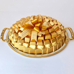 Cocolis Chocolate - Oval Tray Gold S - 100pcs/ 1.5 Kg | Buy Desserts in Dubai UAE | Gifts