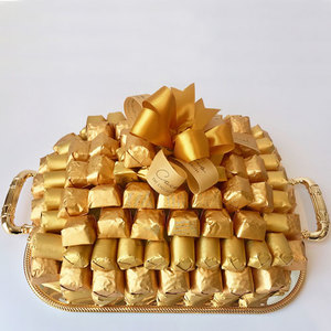 Cocolis Chocolate - Square tray Gold S - 100pcs/ 1.5 Kg | Buy Desserts in Dubai UAE | Gifts