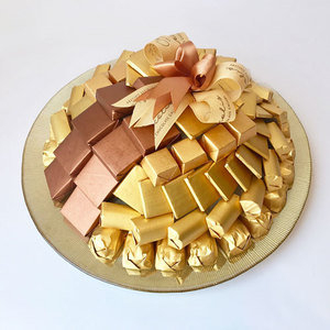 Cocolis Chocolate - Round Glass Plate M - 80pcs/ 1 Kg | Buy Desserts in Dubai UAE | Gifts
