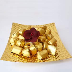 Cocolis Chocolate - Square Gold Plate S - 50pcs/ 500g | Buy Desserts in Dubai UAE | Gifts