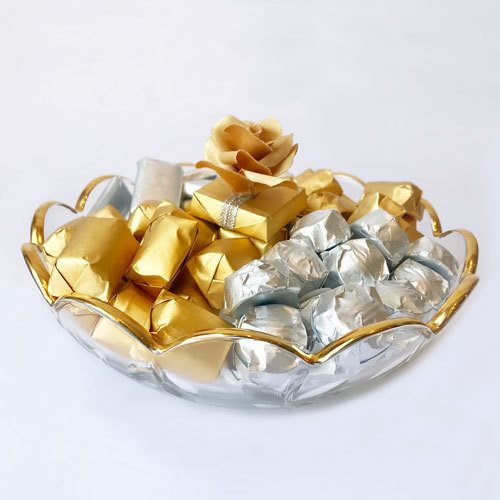 Cocolis Chocolate - Round Glass Plate S - 80pcs/ 800g | Buy Desserts in Dubai UAE | Gifts