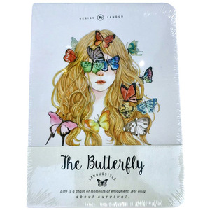 The Butterfly Lady Notebook | Buy Stationary in Dubai UAE | Gifts