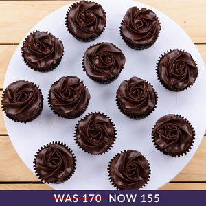 12 chocolate fudge cupcakes213