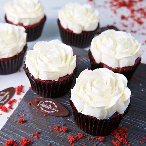 4 Red Velvet Cupcakes  | Buy Desserts in Dubai UAE | Gifts