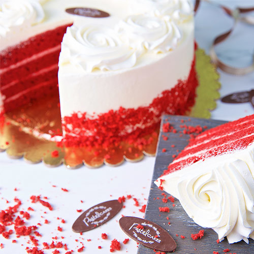 Red Velvet Sponge by Pastel Cakes (Serves 16) | Buy Flowers in Dubai UAE | Gifts