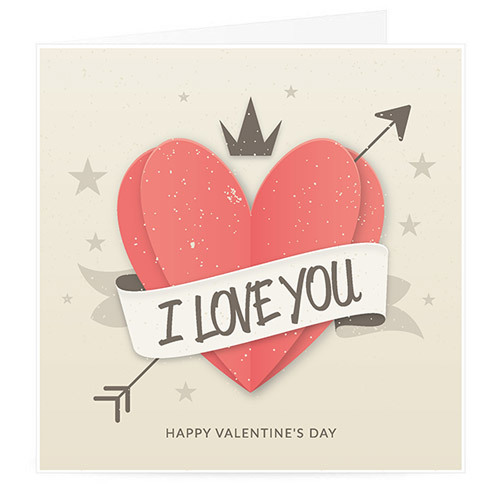 I Love You Valentine Card | Buy Stationary in Dubai UAE | Gifts