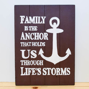 Family is Anchor Wooden Board | Buy Gifts in Dubai UAE | Gifts