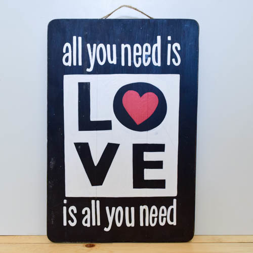 All you need is Love Wooden Board   Buy Gifts in Dubai UAE   Gifts