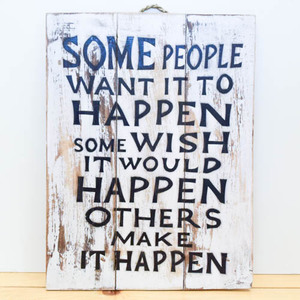 Make it Happen (Wooden Board) | Buy Gifts in Dubai UAE | Gifts