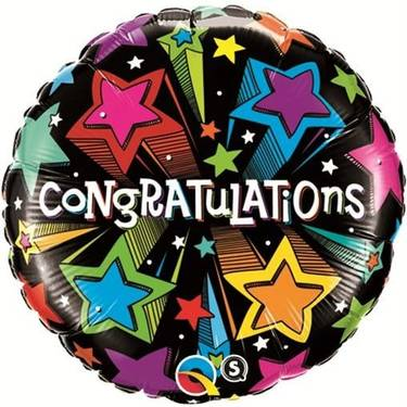 Conratulations! Shooting Stars Foil Balloon | Buy Balloons in Dubai UAE | Gifts