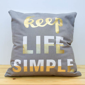 Keep Life Simple Pillow | Buy Gifts in Dubai UAE | Gifts