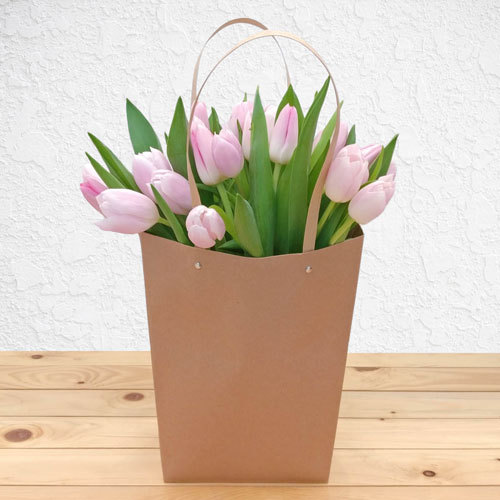 Light Pink Garden Tulips | Buy Flowers in Dubai UAE | Gifts