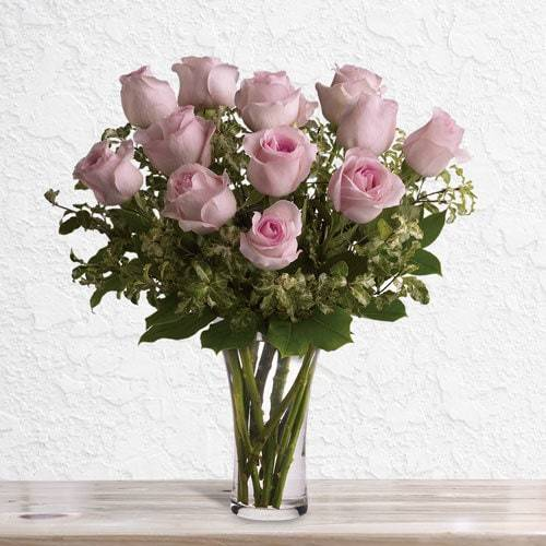 A Dozen Pink Roses | Buy Flowers in Dubai UAE | Gifts