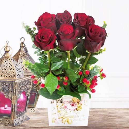 6 Stems in a Garden | Buy Flowers in Dubai UAE | Gifts