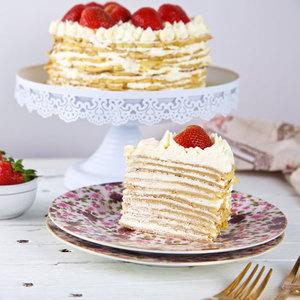 Strawberry Cream Crepe Cake | Buy Cakes in Dubai UAE | Gifts