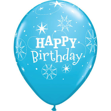 Happy Birthday Rubber Balloon Blue | Buy Balloons in Dubai UAE | Gifts