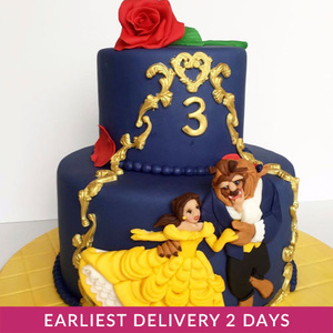 Beauty and the Beast Cake | Cake Delivery in Dubai