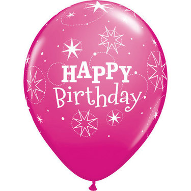 Happy Birthday Rubber Balloon Pink | Buy Balloons in Dubai UAE | Gifts