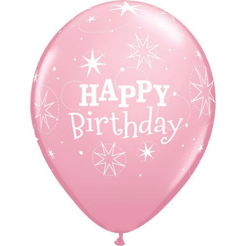 Happy Birthday Rubber Balloon Light Pink | Buy Balloons in Dubai UAE | Gifts