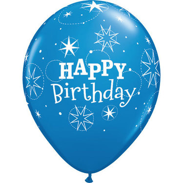 Happy Birthday Rubber Balloon Blue 2 | Buy Balloons in Dubai UAE | Gifts