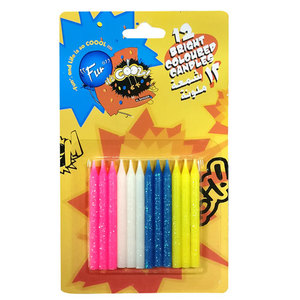 12 Bright Coloured Candles | Buy Gifts in Dubai UAE | Gifts