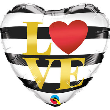 LOVE Horizontal Stripes Foil Balloon | Buy Balloons in Dubai UAE | Gifts
