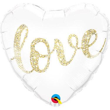 Love Glitter Gold Foil Balloon | Buy Balloons in Dubai UAE | Gifts
