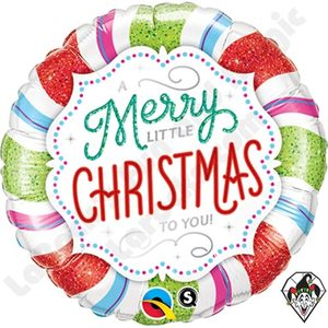 Merry Little Christmas To You Foil Balloon | Buy Balloons in Dubai UAE | Gifts