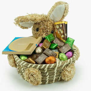Godiva Large Easter Basket (300 gms) with 2 Bars and 1 tablet | Buy Chocolates Gifts in Dubai