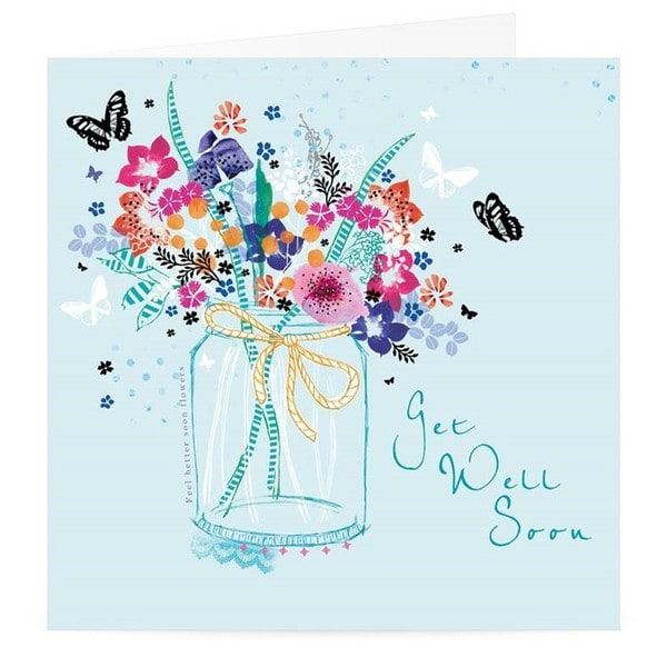 Floral Get Well Soon Premium Card | Buy Stationary in Dubai UAE | Gifts