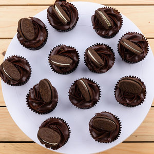 12 Chocolate Fudge Cupcakes | Buy Desserts in Dubai UAE | Gifts